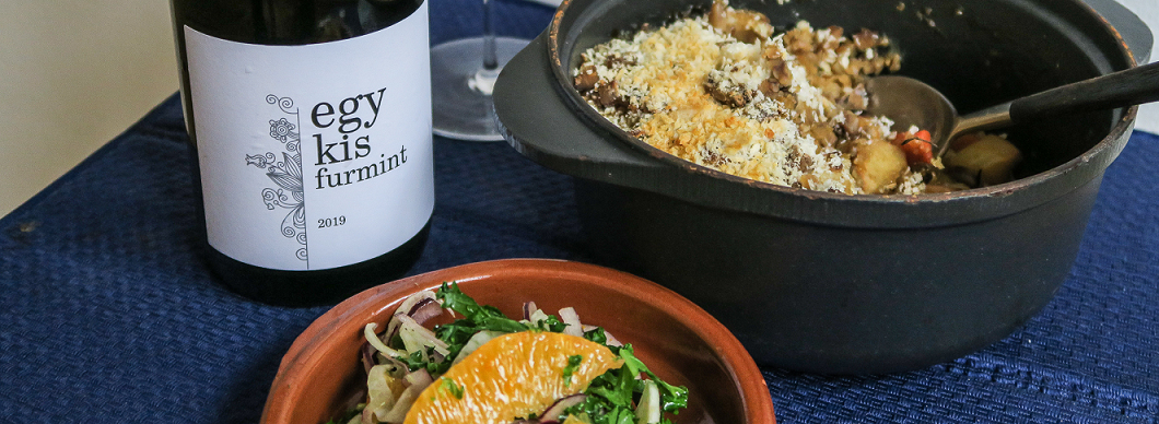 Christmas Food & Wine Pairings: Egy Kis Dry Furmint Barta 2019 & Vegan Supper